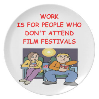 film festival party plate