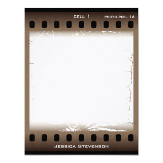 Film Flat Note Card (brown)