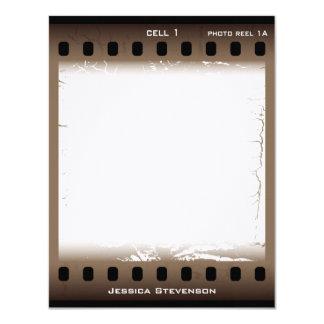 Film Flat Note Card (brown) Custom Invites