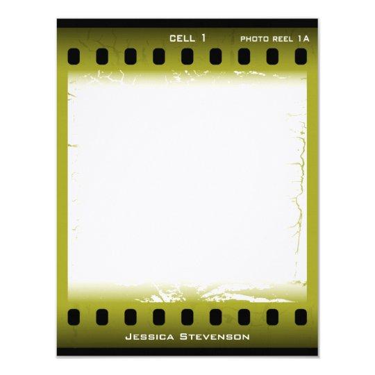 Film Flat Note Card (green)