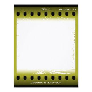 Film Flat Note Card (green) Custom Announcement