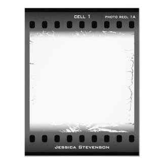 Film Flat Note Card (grey)