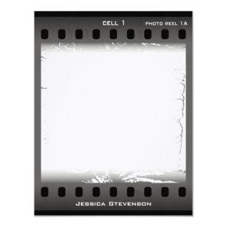 Film Flat Note Card (grey) Invites