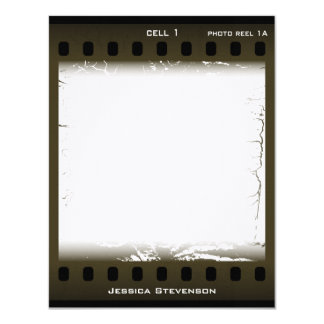 Film Flat Note Card (olive)