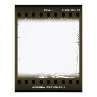 Film Flat Note Card (olive) Custom Invites