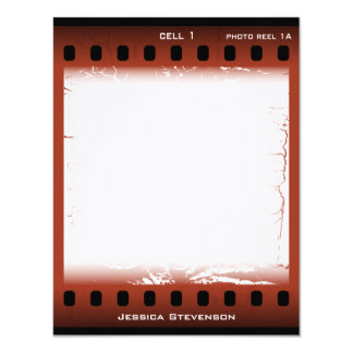 Film Flat Note Card (rust)