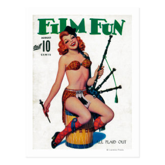 Film Fun Magazine Cover 6 Postcard