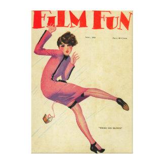 Film Fun Magazine Cover Canvas Print