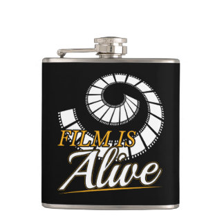 Film is Alive 2019 Photography Gift Photographer Flask