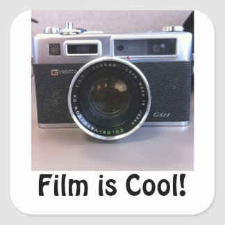 Film is Cool! (Yashica) Square Sticker
