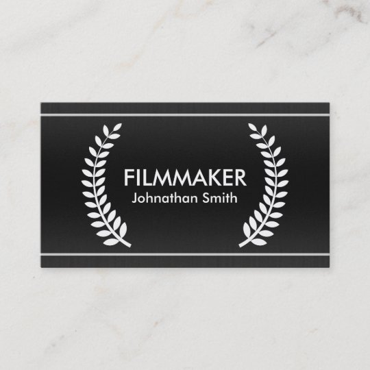 Film laurels classy business cards for filmmakers zazzle film laurels classy business cards for filmmakers colourmoves