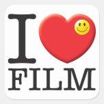 Film Love Square Sticker