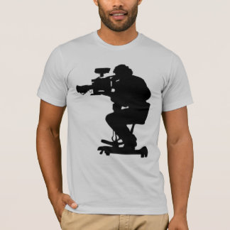 Film Makers Silhouette gray semi fitted mens tee
