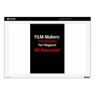 "Film-Makers T-Shirt 17"" Laptop Decal"