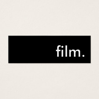film. mini business card