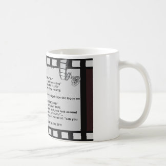 film motto movie reel script actor crew coffee mug