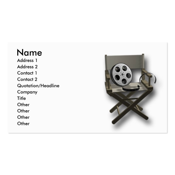 Film Movie Business Card