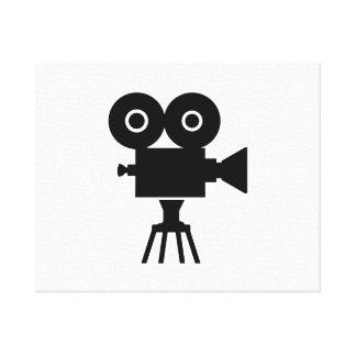 Film movie camera canvas print