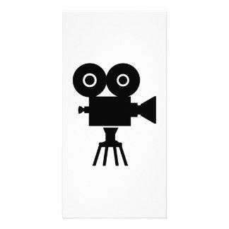Film movie camera custom photo card