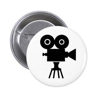 Film movie camera pinback button