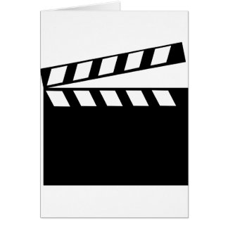 Film Movie Clapper Greeting Card