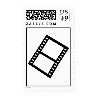 Film movie reel stamp
