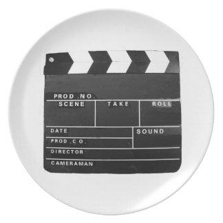 Film Movie Video production Clapper board Plate