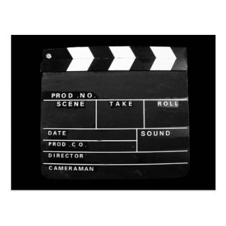Film Movie Video production Clapper board Postcard