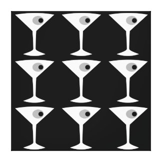 Film Noir Another Martini Stretched Canvas Print