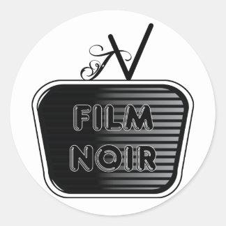Film Noir Classic Round Sticker