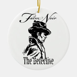 Film Noir Detective Ceramic Ornament