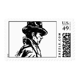 Film Noir Detective Postage