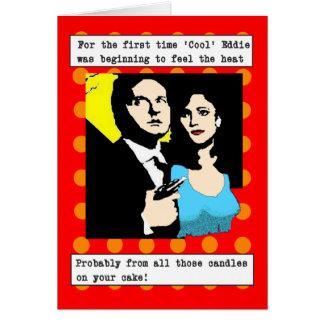 Film Noir: Eddie (Pop Art) Greeting Card