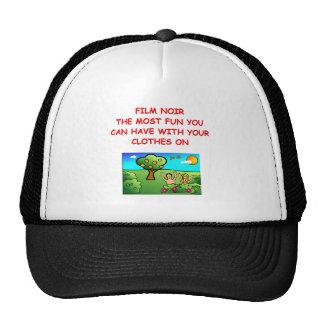 film noir trucker hat