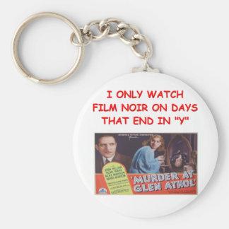 film noir key chain