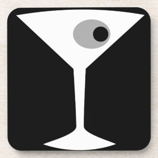 Film Noir Martini Glass Cork Coasters