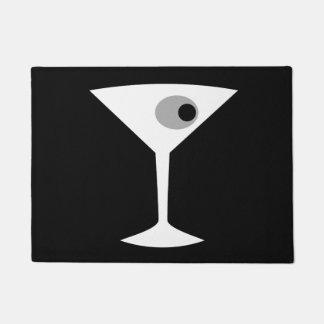 Film Noir Martini Glass Door Mat