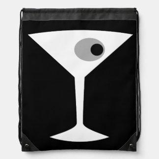 Film Noir Martini Glass Drawstring Backpack