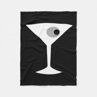 Film Noir Martini Glass Fleece Blanket