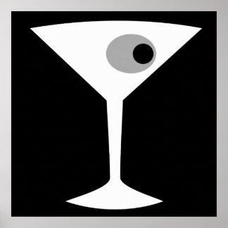 Film Noir Martini Glass Poster