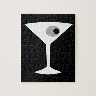 Film Noir Martini Glass Puzzle