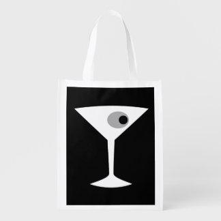 Film Noir Martini Glass Reusable Grocery Bag