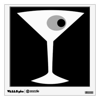 Film Noir Martini Glass Wall Decal