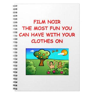 film noir spiral note book