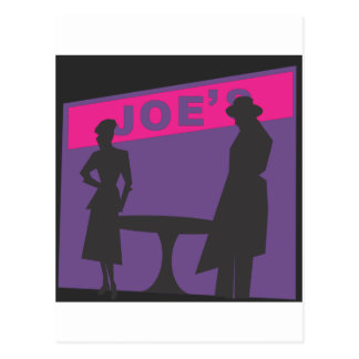 Film Noir Scene Postcard