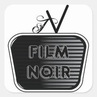 Film Noir Square Sticker