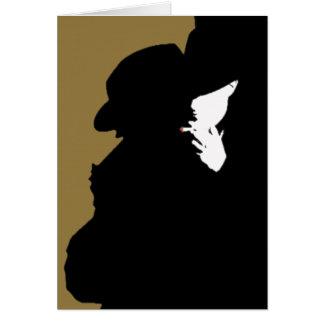 Film Noir: Stranger Stationery Note Card