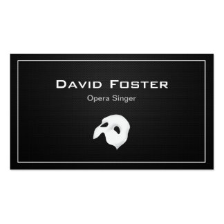 Film Opera Drama Singer Actor Actress Director Double-Sided Standard Business Cards (Pack Of 100)