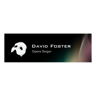 Film Opera Drama Singer Actor Actress Director Double-Sided Mini Business Cards (Pack Of 20)
