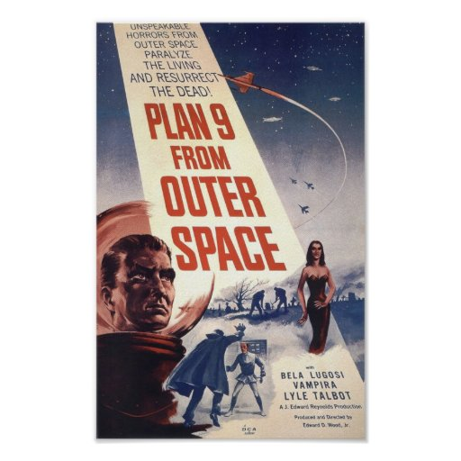Film poster plan 9 from outer space zazzle for Outer space planning and design